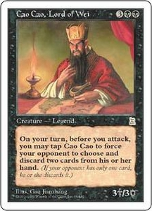 Magic the Gathering Portal Three Kingdoms Single Card Rare #68 Cao Cao, Lord of Wei