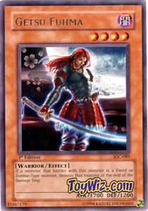 YuGiOh Invasion of Chaos Single Card Rare IOC-089 Getsu Fuhma