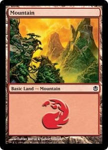 Magic the Gathering Duel Decks: Ajani vs. Nicol Bolas Single Card Land Land #41 Mountain