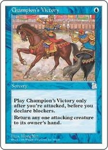 Magic the Gathering Portal Three Kingdoms Single Card Uncommon #39 Champion's Victory