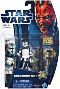 Star Wars 2012 Clone Wars Action Figure #17 Clone Commander Wolffe [Firing Rocket Launcher!]