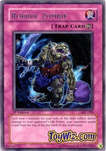 YuGiOh Invasion of Chaos Single Card Rare IOC-109 Robbin' Zombie