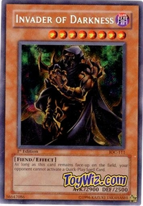 YuGiOh Invasion of Chaos Single Card Secret Rare IOC-111 Invader Of Darkness