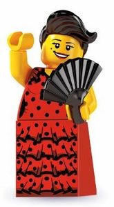 LEGO Minifigure Collection Series 6 LOOSE Mini Figure Flamenco Dancer