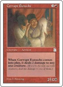 Magic the Gathering Portal Three Kingdoms Single Card Uncommon #106 Corrupt Eunuchs