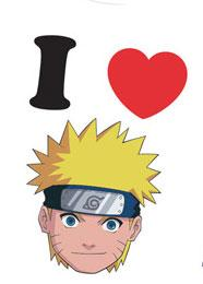 Naruto Youth T-Shirt I Love Naruto Child  #NAJS013