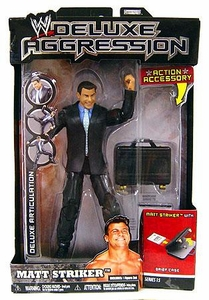 WWE Wrestling DELUXE Aggression Series 15 Action Figure Matt Striker [Brief Case]
