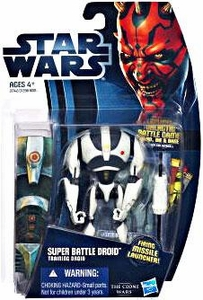 Star Wars 2012 Clone Wars Action Figure #16 Super Battle Droid {Training Droid} [Firing Missile Launcher!]