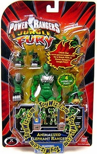 Power Rangers Jungle Fury Action Figure Animalized Elephant Ranger [Green]