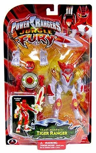 Power Rangers Jungle Fury Deluxe Animalized Beast Morphin Tiger Ranger