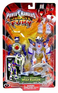 Power Rangers Jungle Fury Deluxe Animalized Beast Morphin Wolf Ranger