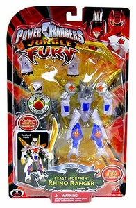 Power Rangers Jungle Fury Deluxe Animalized Beast Morphin Rhino Ranger