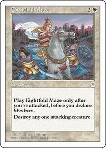 Magic the Gathering Portal Three Kingdoms Single Card Rare #2 Eightfold Maze
