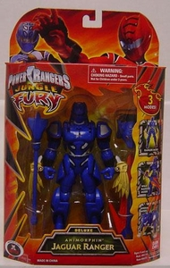 Power Rangers Jungle Fury Deluxe Action Figure Animorphin' Jaguar Ranger [Blue]