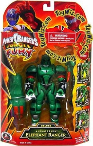Power Rangers Jungle Fury Deluxe Action Figure Animorphin' Elephant Ranger [Green]