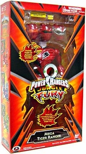 Power Rangers Jungle Fury 12 Inch Deluxe Talking Action Figure Mega Tiger Ranger [Red]