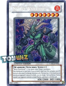 YuGiOh 5D's 2008 Holiday Tin Promo Single Card Secret Rare CT05-ENS02 Nitro Warrior