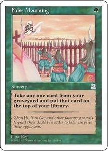 Magic the Gathering Portal Three Kingdoms Single Card Uncommon #134 False Mourning
