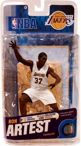 McFarlane Toys NBA Sports Picks Series 18 Action Figure Ron Artest (Los Angeles Lakers) White Jersey Bronze Collector Level Chase Only 2,000 Made!