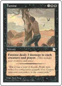 Magic the Gathering Portal Three Kingdoms Single Card Uncommon #75 Famine