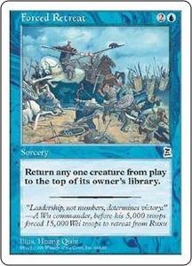 Magic the Gathering Portal Three Kingdoms Single Card Common #44 Forced Retreat