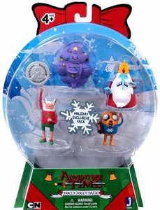 Adventure Time2 Inch Mini Figure 4-Pack Ugly Sweater Holly Jolly Pack [Finn, Jake, Ice King & Lumpy]