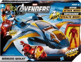 Marvel Avengers Movie Deluxe Vehicle Avengers Quinjet [Iron Man Action Figure] BLOWOUT SALE!