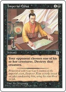 Magic the Gathering Portal Three Kingdoms Single Card Common #77 Imperial Edict