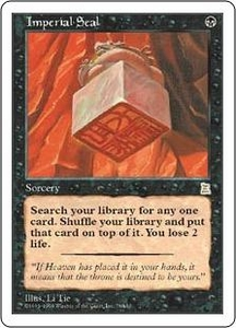 Magic the Gathering Portal Three Kingdoms Single Card Rare #78 Imperial Seal