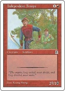 Magic the Gathering Portal Three Kingdoms Single Card Common #114 Independent Troops