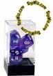 "Dice Gaming Supplies 7 Piece ""Borealis"" Purple w/ White Polyhedral Dice Set"