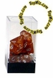 "Dice Gaming Supplies 7 Piece ""Leaf"" Copper w/ Steel Polyhedral Dice Set"