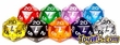 Dice Gaming Supplies Transparent 20-Sided Dice