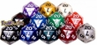 Dice Gaming Supplies Pearlized 20-Sided Dice