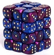 Dice Gaming Supplies 36 Count 12mm 6-Sided d6 Dice Pack Gemini [Blue-Purple/Gold 26828]