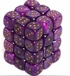 Dice Gaming Supplies 36 Count 12mm 6-Sided d6 Dice Pack Velvet [Purple/Silver 27877]