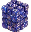 Dice Gaming Supplies 36 Count 12mm 6-Sided d6 Dice Pack Lustrous [Purple/Gold 27897]