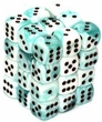 Dice Gaming Supplies 36 Count 12mm 6-Sided d6 Dice Pack Gemini [Teal-White/Black  26844]