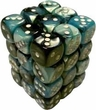 Dice Gaming Supplies 36 Count 12mm 6-Sided d6 Dice Pack Gemini [Black-Shell/White 26846]