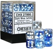 Dice Gaming Supplies 36 Count 12mm 6-Sided d6 Dice Pack Nebula [Dark Blue/White 27866]
