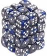 Dice Gaming Supplies 36 Count 12mm 6-Sided d6 Dice Pack Gemini [Blue-Steel/White 27823]