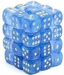 Dice Gaming Supplies 36 Count 12mm 6-Sided d6 Dice Pack Borealis [Sky Blue/White 27826]