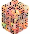 Dice Gaming Supplies 36 Count 12mm 6-Sided d6 Dice Pack Festive [Circus/Black 27842]