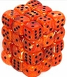 Dice Gaming Supplies 36 Count 12mm 6-Sided d6 Dice Pack Vortex [Orange/Black 27833]