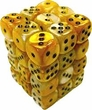 Dice Gaming Supplies 36 Count 12mm 6-Sided d6 Dice Pack Gemini [Gold-White/Black 26848]