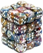 Dice Gaming Supplies 36 Count 12mm 6-Sided d6 Dice Pack Festive [Carousel/White 27840]