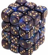 Dice Gaming Supplies 36 Count 12mm 6-Sided d6 Dice Pack Lustrous [Shadow/Gold 27899]
