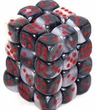 Dice Gaming Supplies 36 Count 12mm 6-Sided d6 Dice Pack Gemini [Black-White/Red 26821]