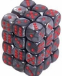 Dice Gaming Supplies 36 Count 12mm 6-Sided d6 Dice Pack Velvet [Black/Red 27878]
