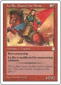 Magic the Gathering Portal Three Kingdoms Single Card Rare #115 Lu Bu, Master-at-Arms
